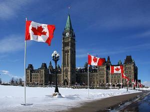 上院と下院からなるカナダの国会議事堂