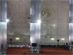 男女別に分けられたイスラム教の礼拝の様子