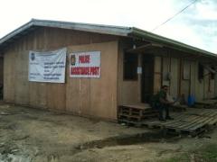 建設中の仮設住宅