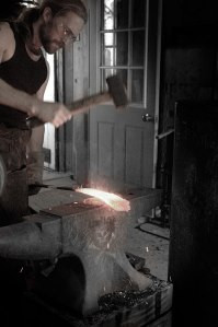 Jake forging sword