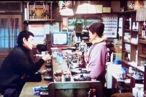 降旗康夫監督「駅」高倉健主演・共演倍賞千恵子:居酒屋「桐子」の10数分の長回しシーンから。
