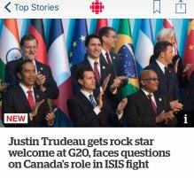 Trudeau rock star