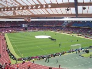 ドイツのニュルンベルク市のスタジアム。2006年W杯にスタッフとして参加したときに著者が撮影。©Yoko Morgenstern